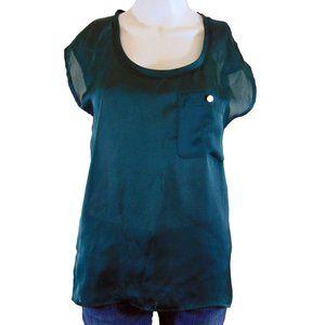 Club Monaco Green Sleeveless Blouse - Size XS